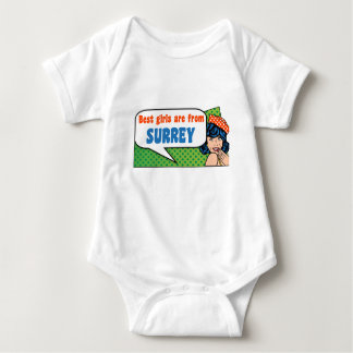 Best girls are from Surrey Baby Bodysuit