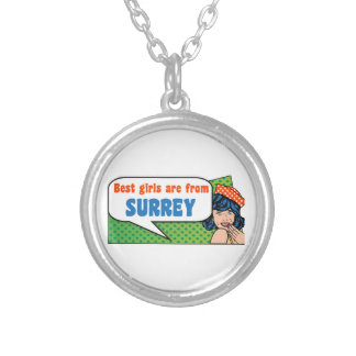 Best girls are from Surrey Silver Plated Necklace