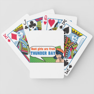 Best girls are from Thunder Bay Bicycle Playing Cards