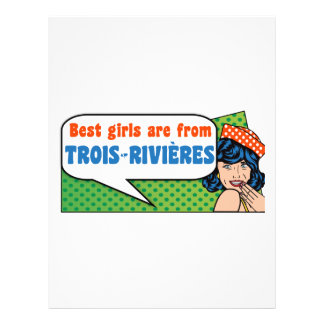 Best girls are from Trois-Rivières Letterhead