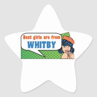 Best girls are from Whitby Star Sticker