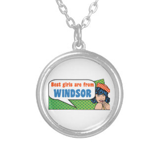 Best girls are from Windsor Silver Plated Necklace