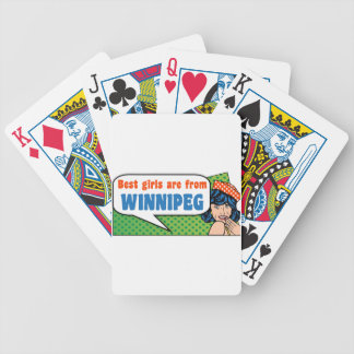 Best girls are from Winnipeg Bicycle Playing Cards