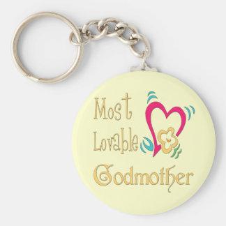 Best Godmother Gifts Basic Round Button Keychain