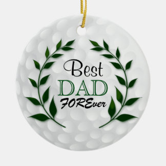 Best Golf Dad | DIY Text Ceramic Ornament
