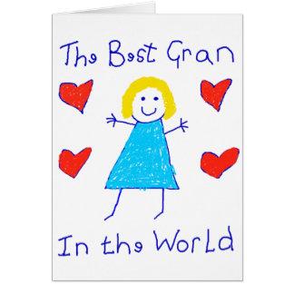 Best Gran In The World Card