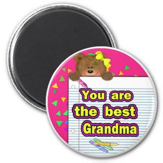 Best Grandma 2 Inch Round Magnet