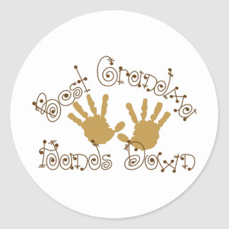 Best Grandma Hands Down Round Sticker