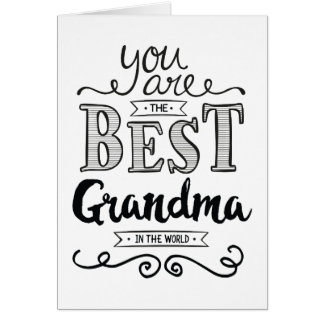 Best Grandma in the World Birthday Card