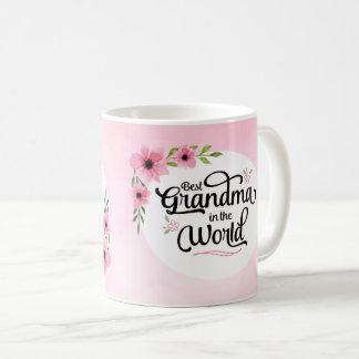 Best Grandma in the World Flower Mug