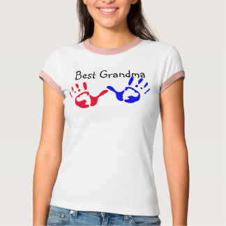 Best Grandma with Handprints T-Shirt