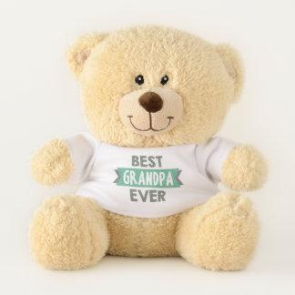 Best Grandpa ever word art bear