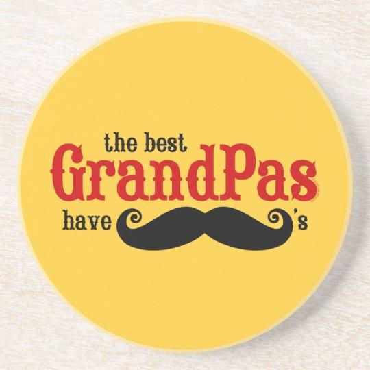 Best Grandpas Have Moustaches Coaster