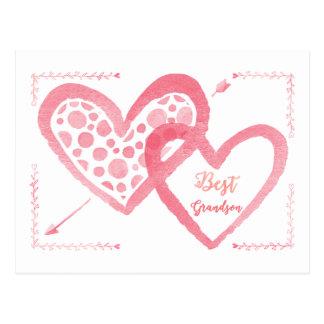 Best Grandson Valentine Postcard