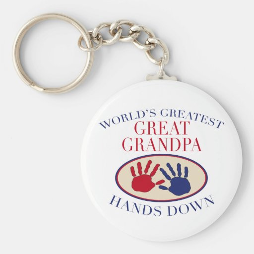 Best Great Grandpa Hands Down Keychain
