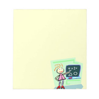 Best Greatest Female Teacher Cute Female Design Notepads