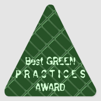 Best GREEN Practices Award - Change Txt Font Triangle Sticker