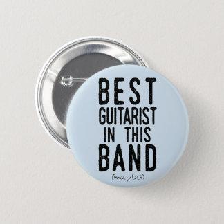 Best Guitarist (maybe) (blk) 2 Inch Round Button