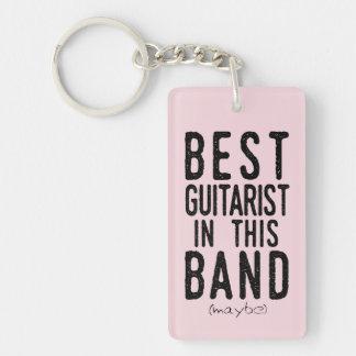 Best Guitarist (maybe) (blk) Keychain