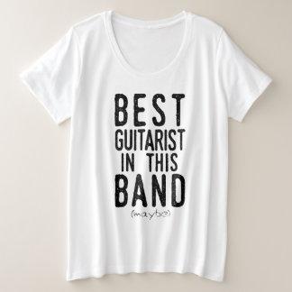 Best Guitarist (maybe) (blk) Plus Size T-Shirt