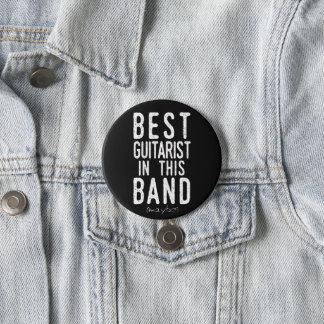 Best Guitarist (maybe) (wht) 3 Inch Round Button