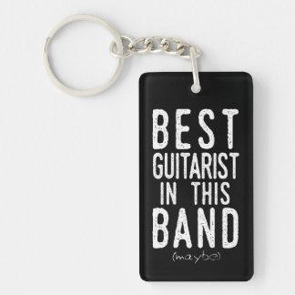 Best Guitarist (maybe) (wht) Keychain