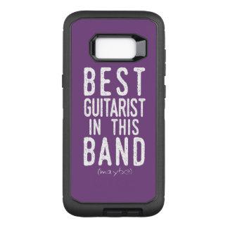 Best Guitarist (maybe) (wht) OtterBox Defender Samsung Galaxy S8+ Case