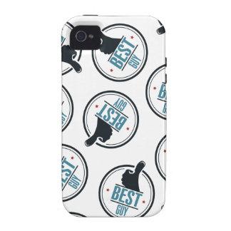 Best-guy-thumb-up-label-pattern-blue-black iPhone 4 Case