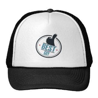 Best guy thumb up label trucker hat