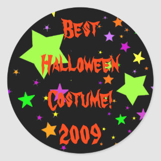 Best Halloween Costume! 2009 Round Sticker