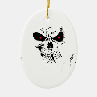 Best Halloween gift, Cheap Halloween gift for her Ceramic Oval Ornament