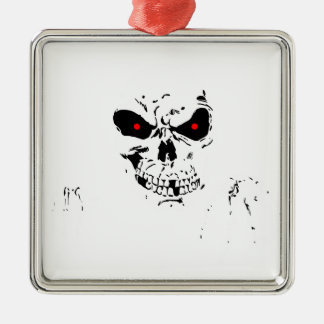 Best Halloween gift, Cheap Halloween gift for her Silver-Colored Square Ornament