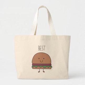 best hamburger large tote bag