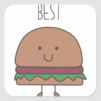 best hamburger square sticker
