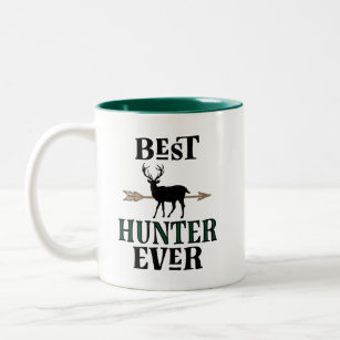 Best Hunter Ever Bow Hunting Deer Hunter Gift Two-Tone Coffee Mug