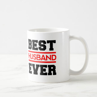 Best HUSBAND Ever Black and Red Modern A04 Coffee Mug