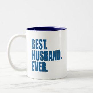 Best. Husband. Ever. (blue) Two-Tone Coffee Mug