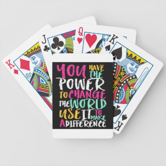 Best Inspirational Quote Bicycle Playing Cards