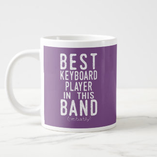 Best Keyboard Player (probably) (wht) Large Coffee Mug
