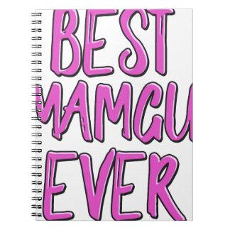 Best mamgu ever grandmother spiral notebook