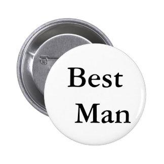 Best Man 2 Inch Round Button