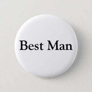 Best Man 2 Inch Round Button