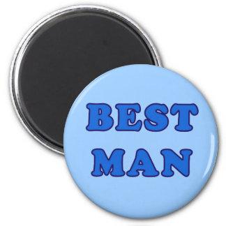 Best Man 2 Inch Round Magnet