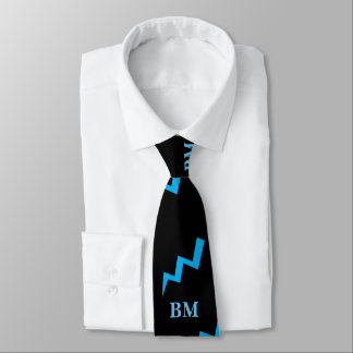 Best Man Blue Lightening Tie Lightening Strike