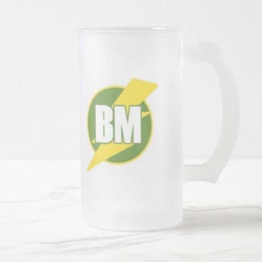 Best Man (BM) 16 Oz Frosted Glass Beer Mug