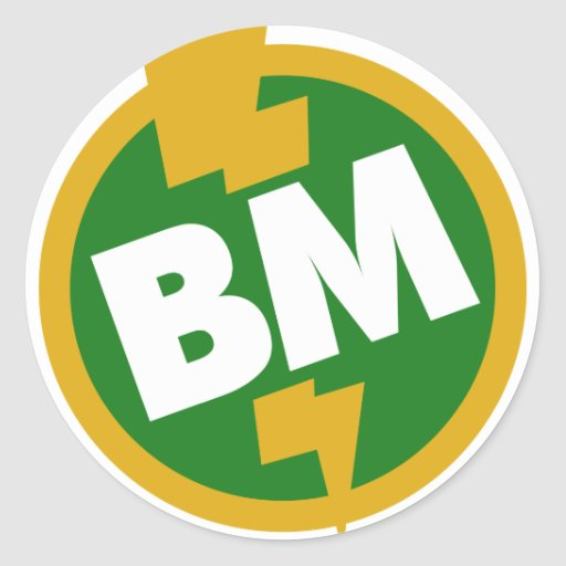 Best Man - BM Dupree Round Sticker