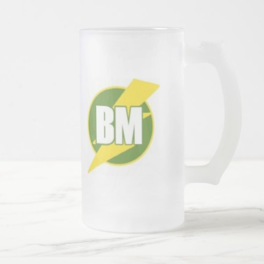 Best Man (BM) Frosted Glass Beer Mug