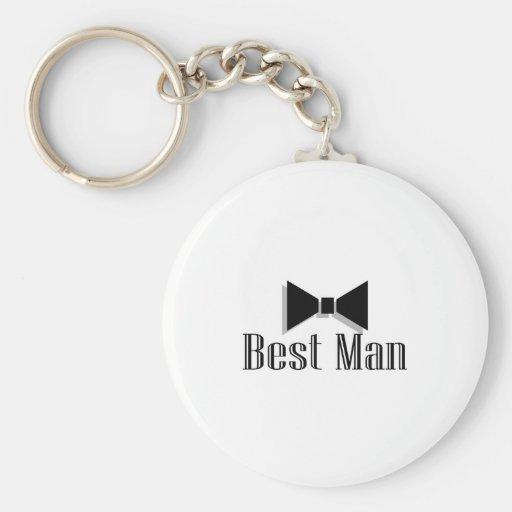 Best Man (Bow Tie 2) Basic Round Button Keychain