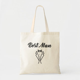 Best Man Bowtie Tuxedo Wedding Gift Tote Bag