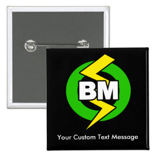Best Man Button, Custom Text 2 Inch Square Button
